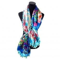 sjaal 2-zijdig multi color