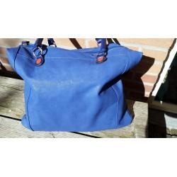 blauwe tas afsluitbaar met rits
