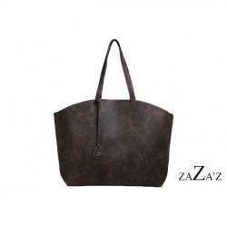 Coffee kleurige tas van pvc bag in bag model