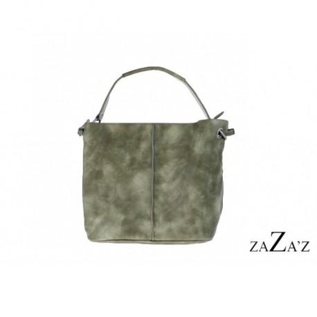 55e33040a35 Handige damestas, bag in bag model, kleur groen. - Madaaccessoires