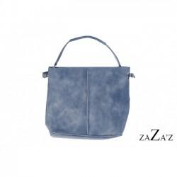 Tas blauw/ grijs bag in bag met lang schouderhengsel