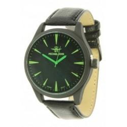 horloge Michael John black groen neon