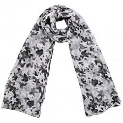 Sjaal zwart wit sterren