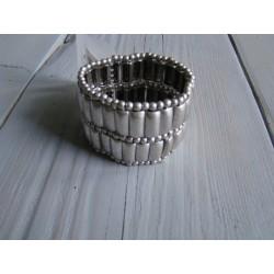 zilverkleurig armband met schakels